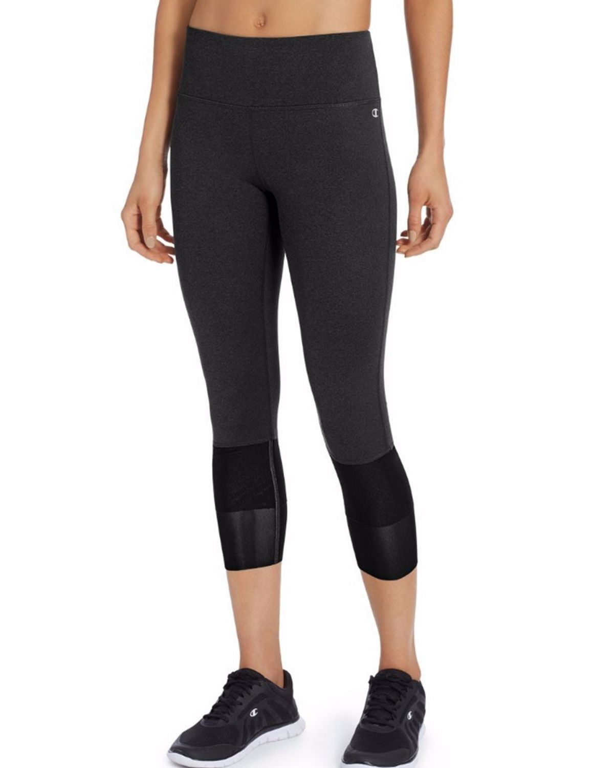 Champion M50075 Womens Mesh 3/4 Tights - Black - M M50075