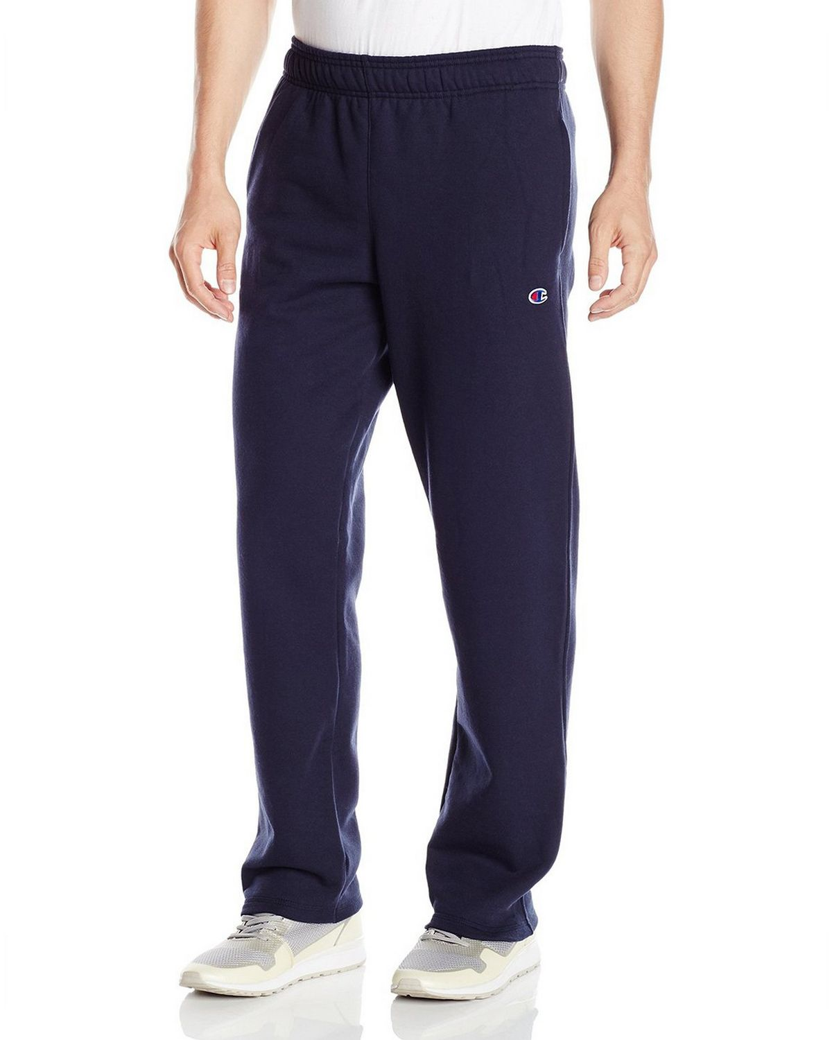 Champion P0893 Mens Fleece Open Bottom Pants - Navy - XL P0893