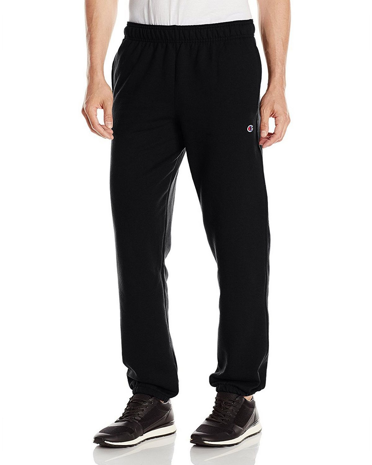 Champion P0894 Mens Powerblend Fleece Pants - Black - XL P0894