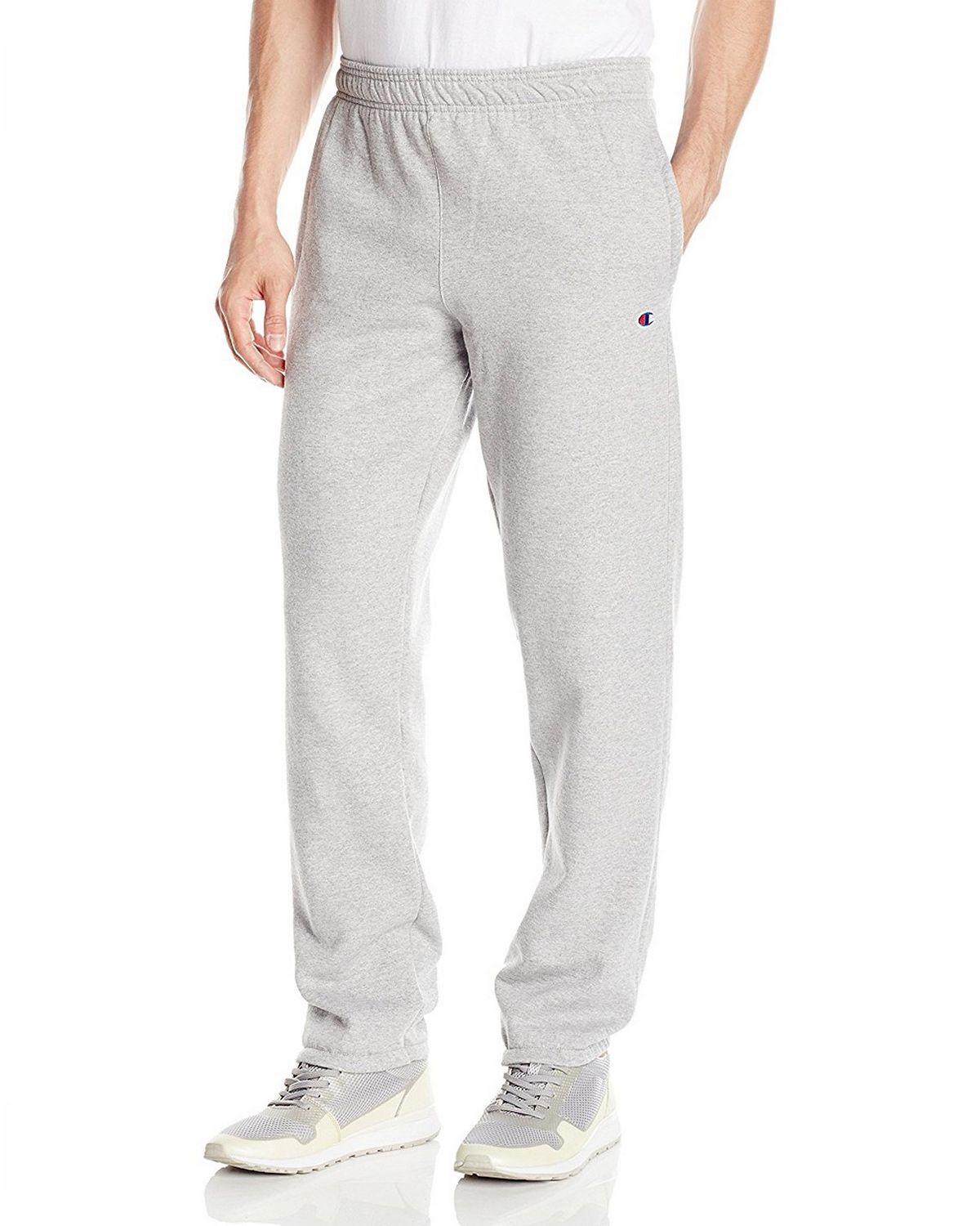 Champion P0894 Mens Powerblend Fleece Pants - Oxford Grey - S P0894