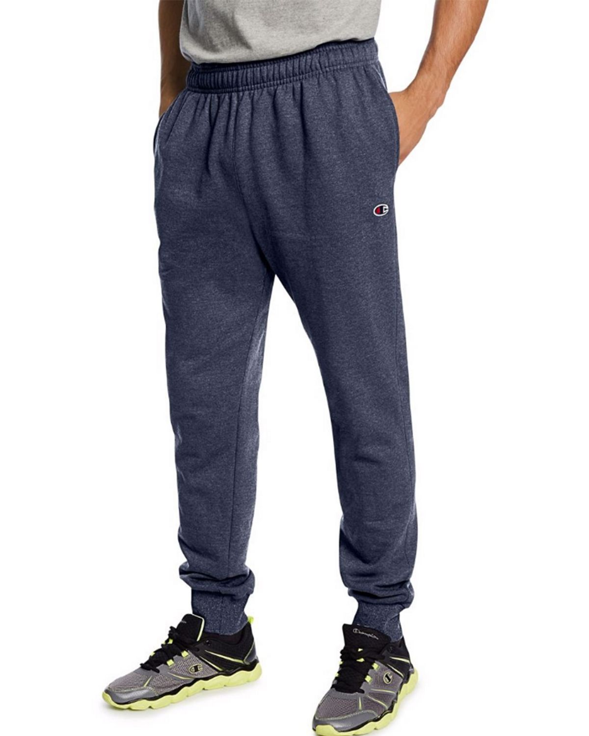 Champion P1022 Mens Fleece Jogger Pants - Navy Heather - XL P1022