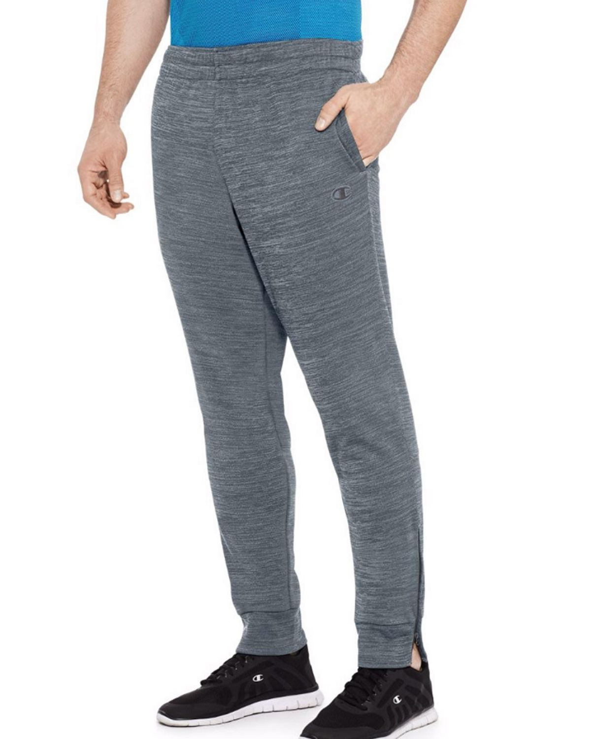 Champion P29877 Mens Fleece Jogger Pants - Concrete Heather - XL P29877