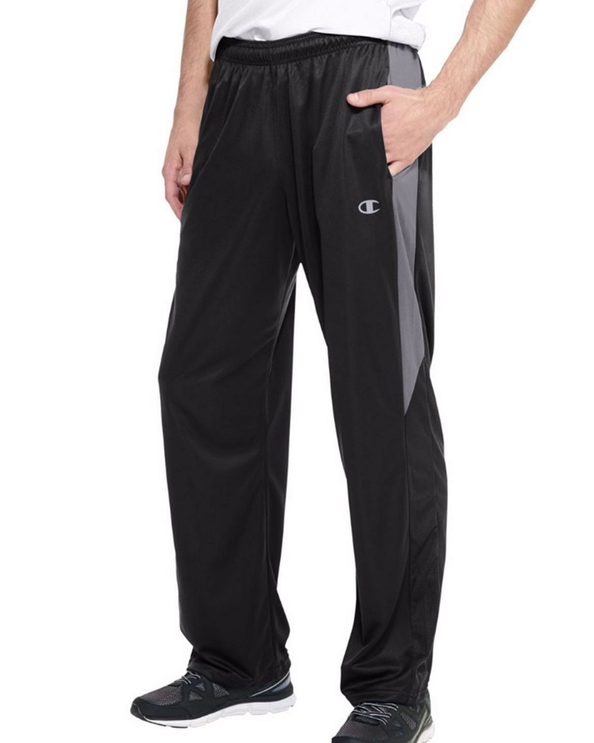 Champion P6609 Vapor PowerTrain Knit Training Pants - Black/Slate Grey - M P6609