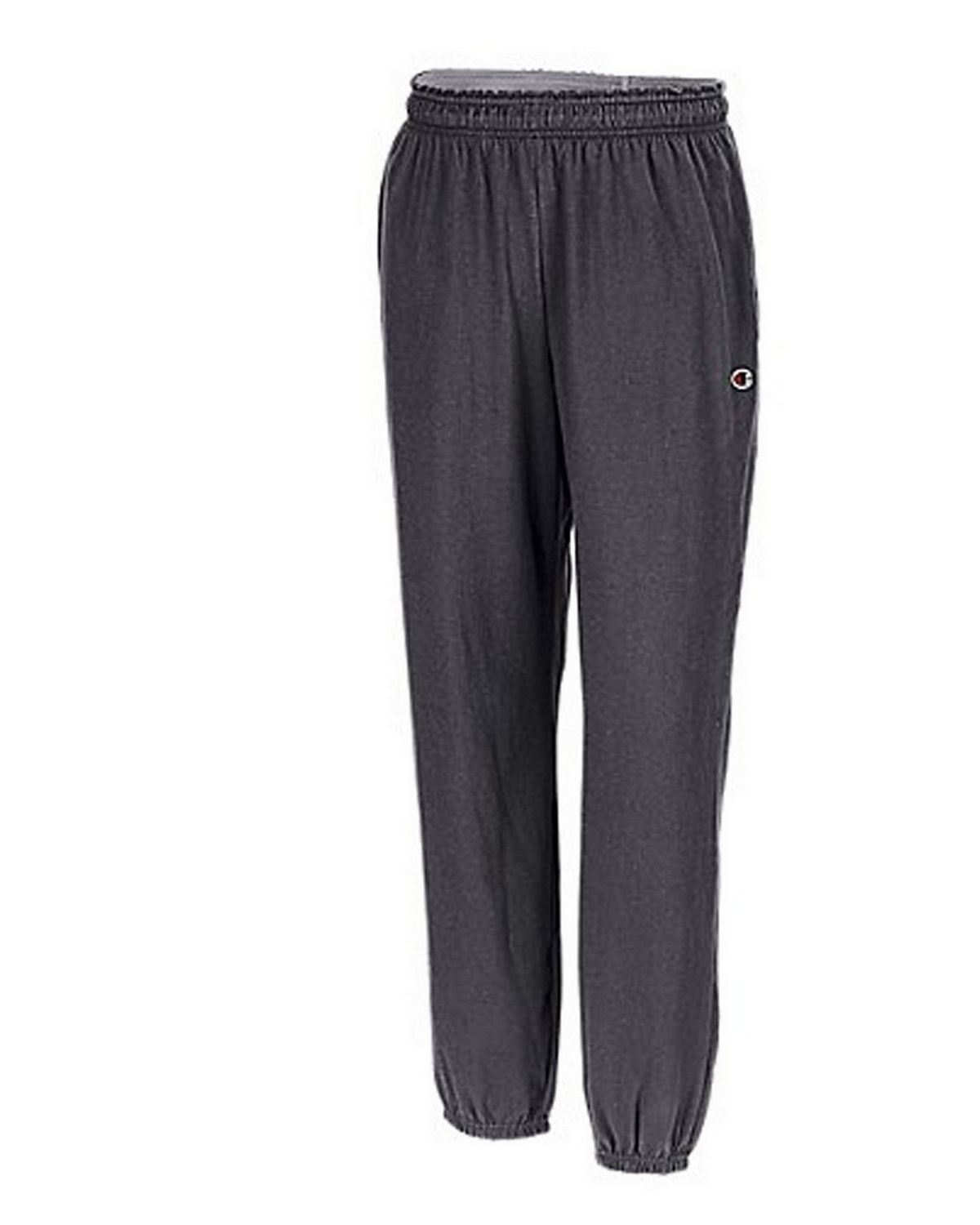 Champion P7310 Authentic Closed Bottom Jersey Pants - Oxford Grey - M P7310