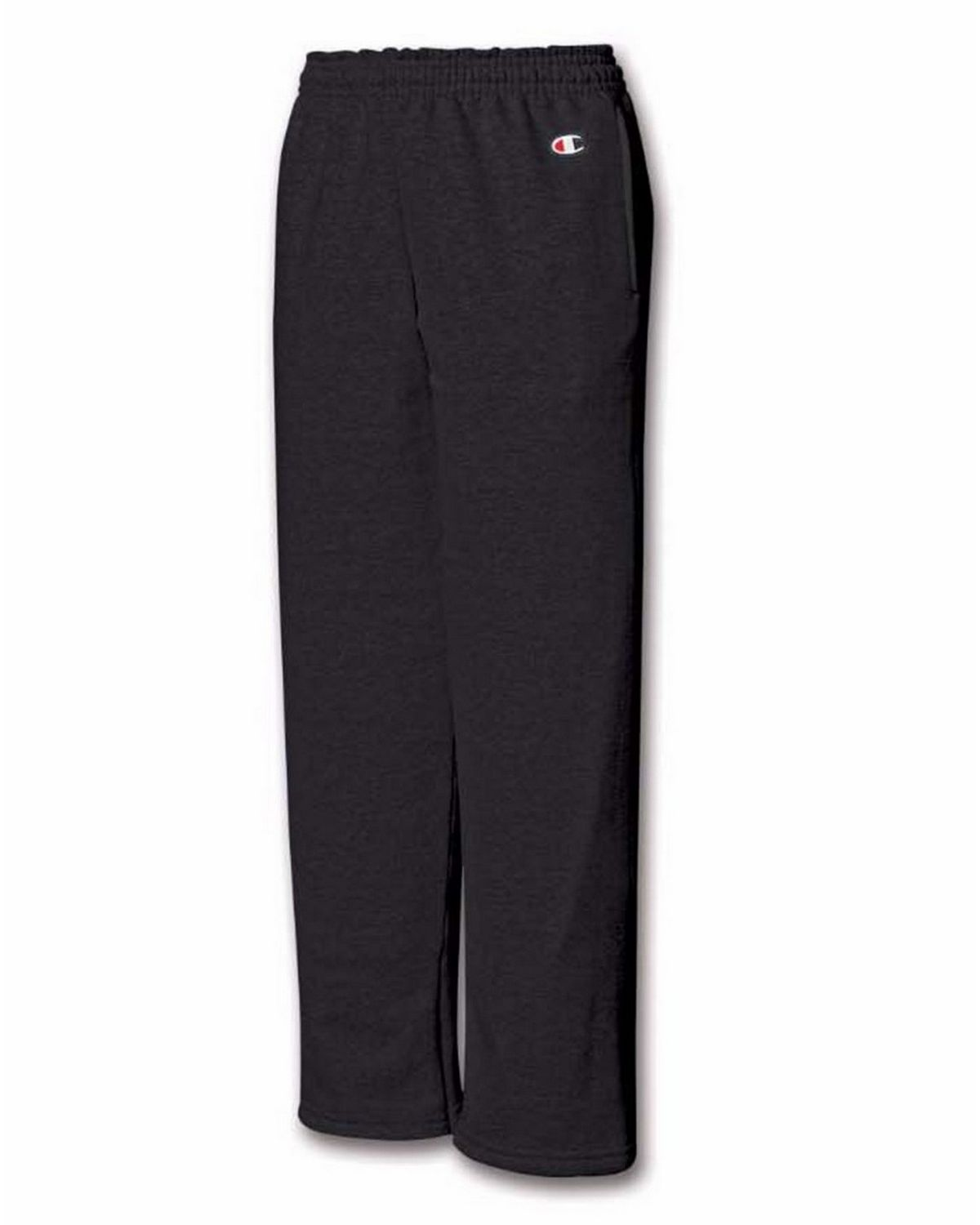 Champion P890 Youth Fleece Open Bottom Pant - Black - S P890