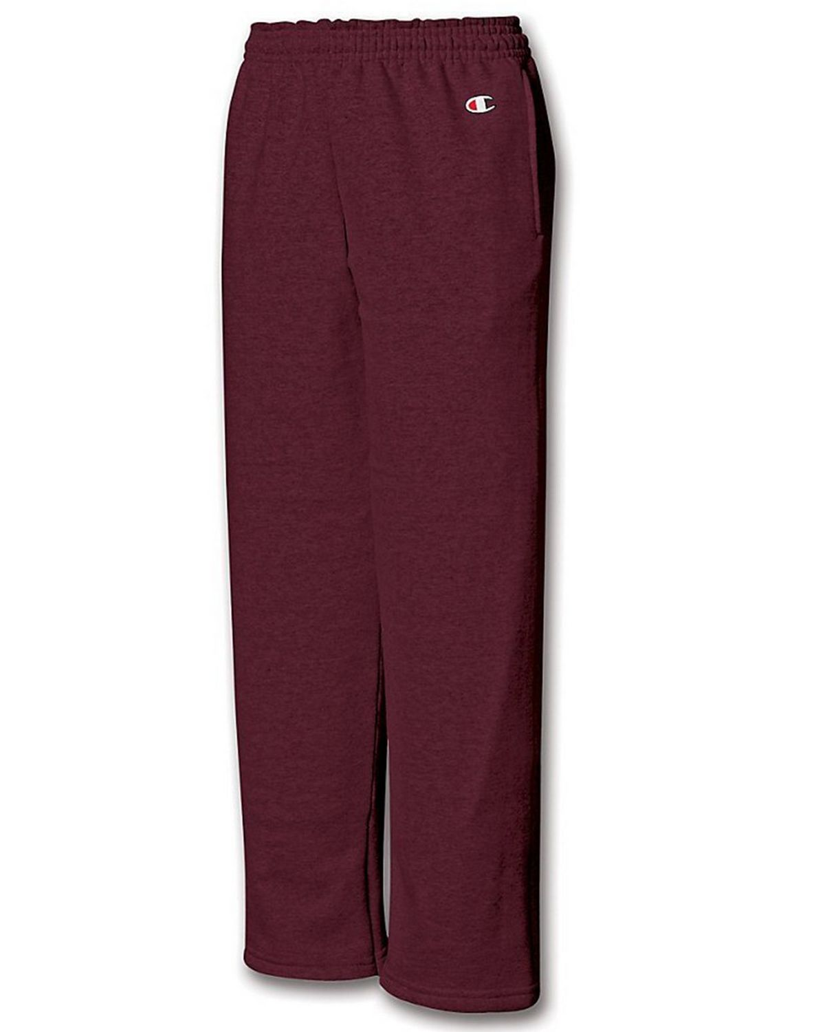 Champion P890 Youth Fleece Open Bottom Pant - Maroon - S P890
