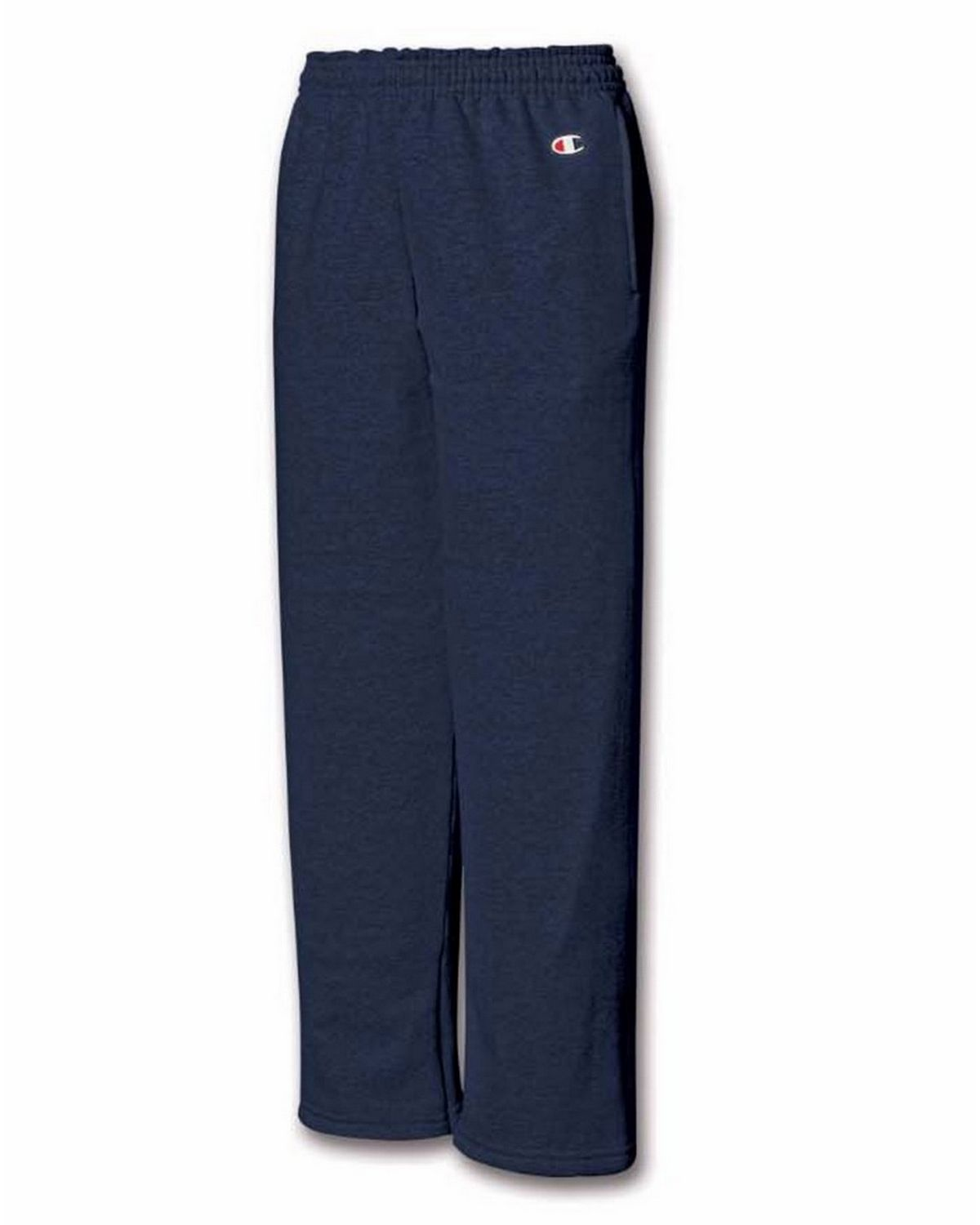 Champion P890 Youth Fleece Open Bottom Pant - Navy - L P890