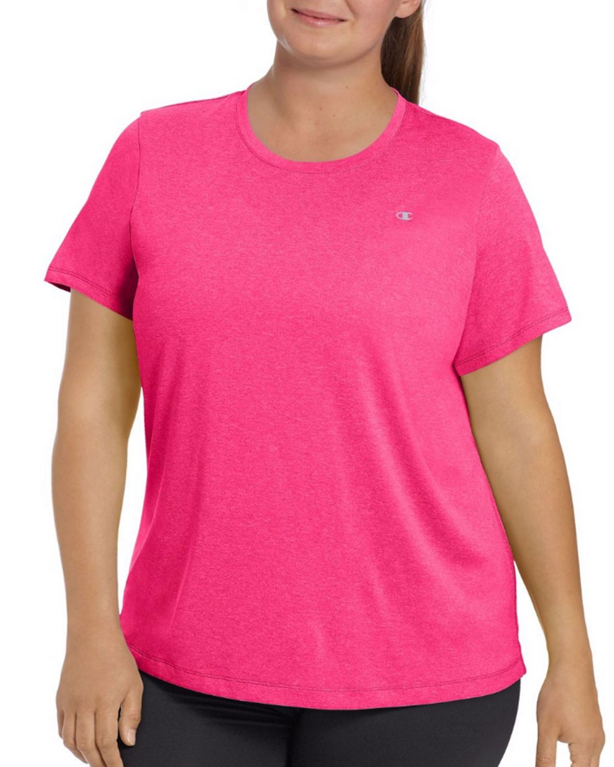 Champion QW0982 Womens Heather Tee - Forging Green Heather - 1X QW0982