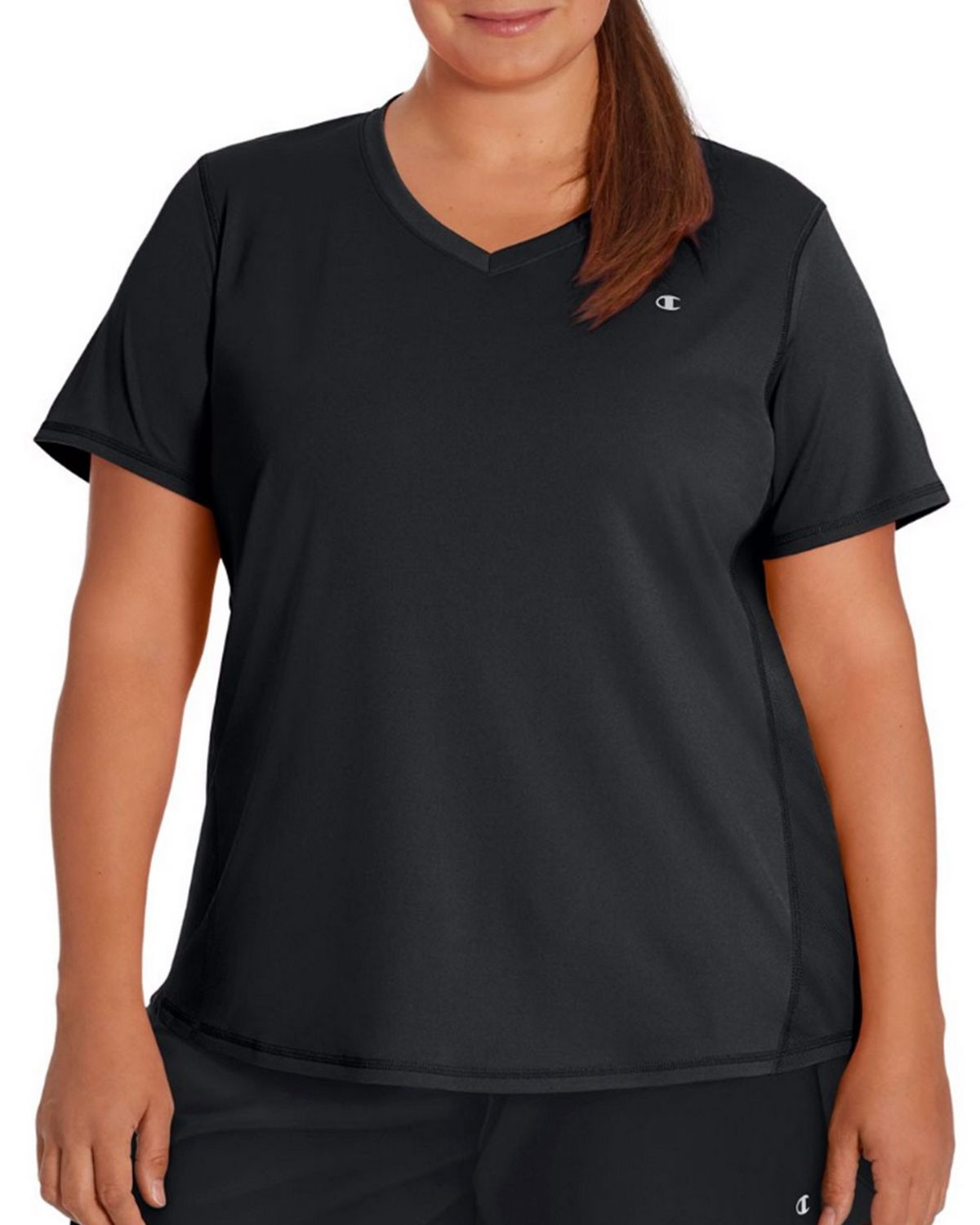 Champion QW5401 Vapor Womens Plus Tee - Black - XL QW5401