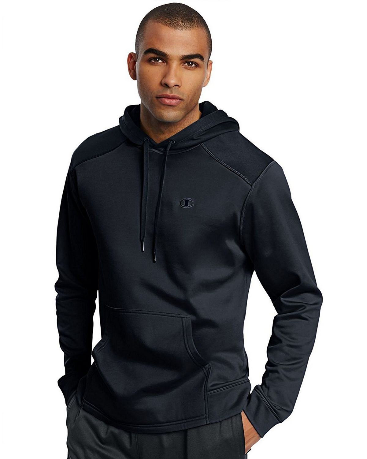 Champion S0875 Tech Fleece Pullover Hoodie - Navy - M S0875