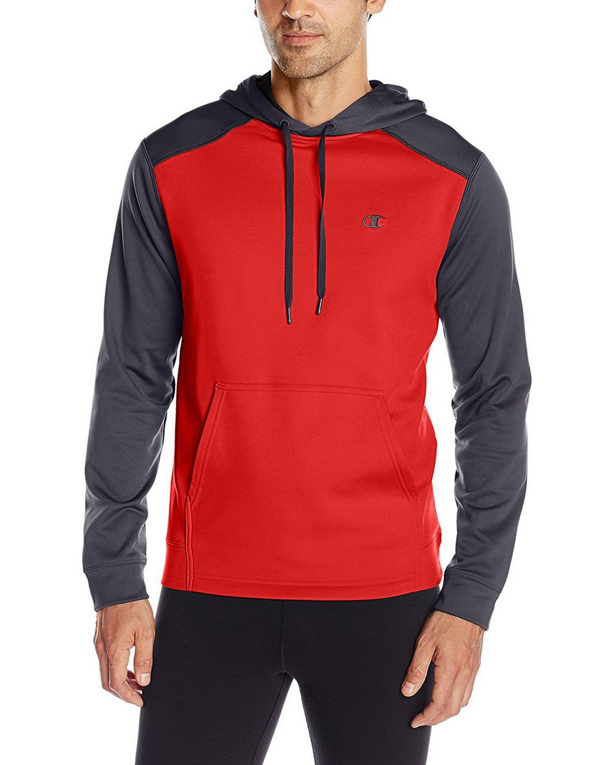 Champion S0875 Tech Fleece Pullover Hoodie - Scarlet/Stealth - S S0875
