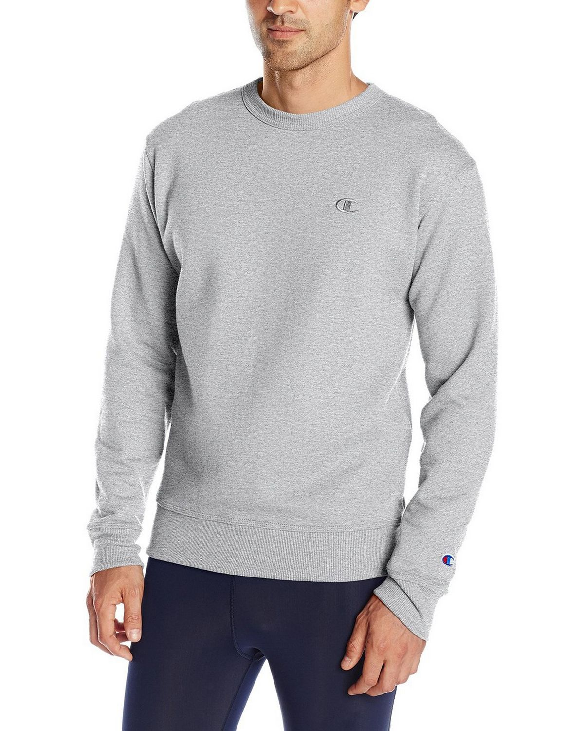 Champion S0888 Mens Fleece Pullover Crew - Oxford Grey - XL S0888