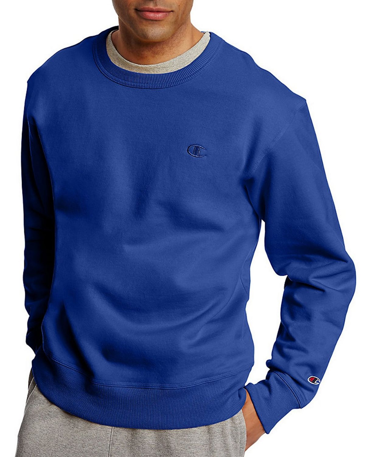 Champion S0888 Mens Fleece Pullover Crew - Surf The Web - S S0888