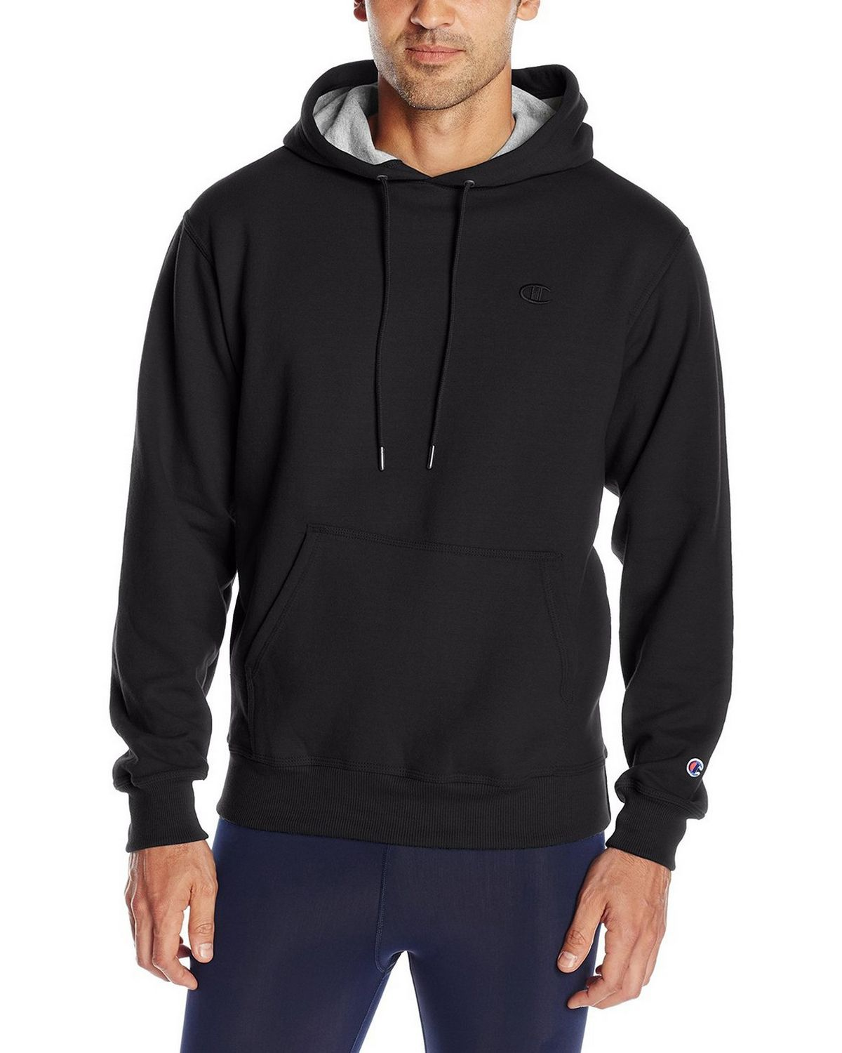 Champion S0889 Mens Fleece Pullover Hoodie - Black - M S0889