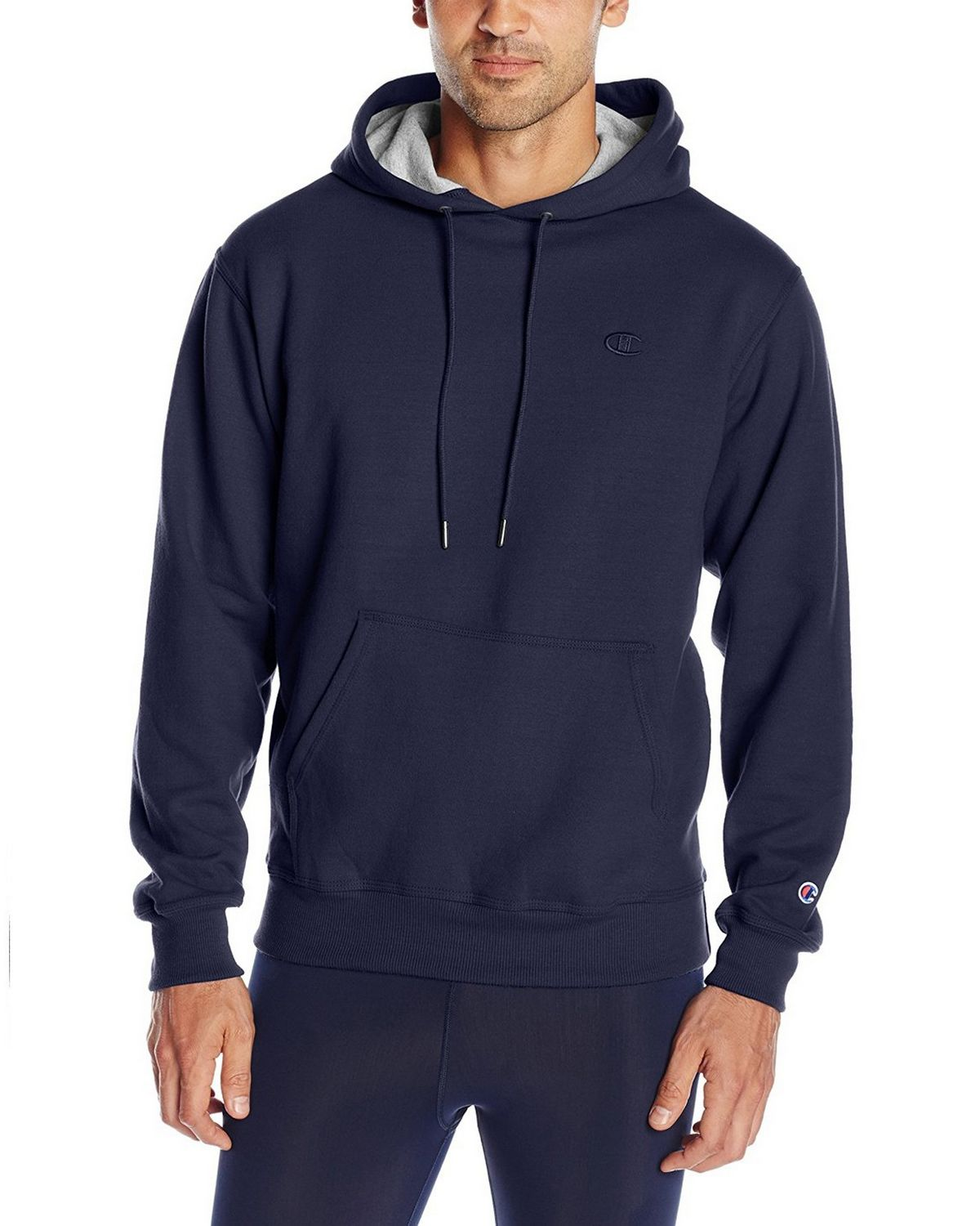 Champion S0889 Mens Fleece Pullover Hoodie - Navy - XL S0889