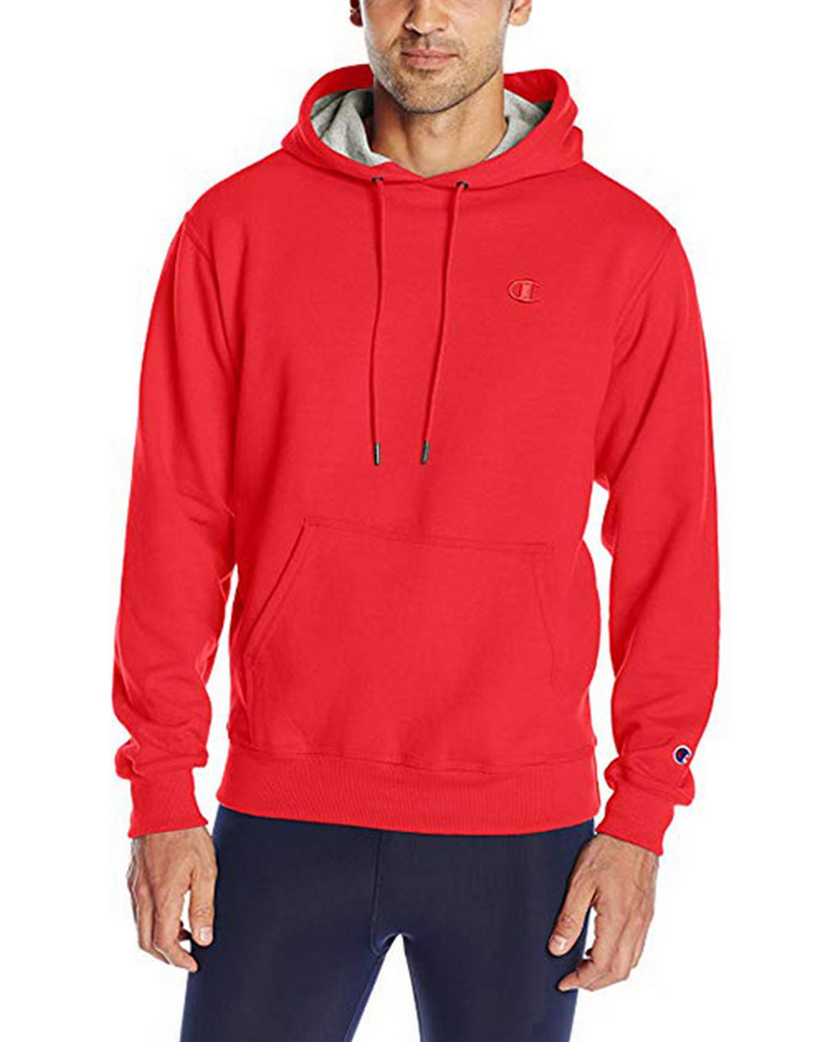 Champion S0889 Mens Fleece Pullover Hoodie - Team Red Scarlet - XL S0889