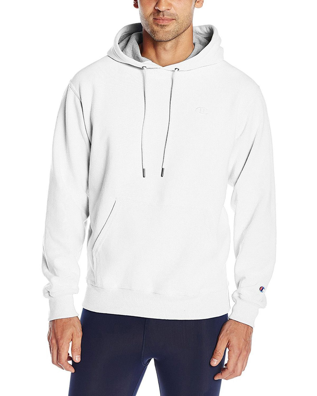 Champion S0889 Mens Fleece Pullover Hoodie - Swiss Blue - XXL S0889