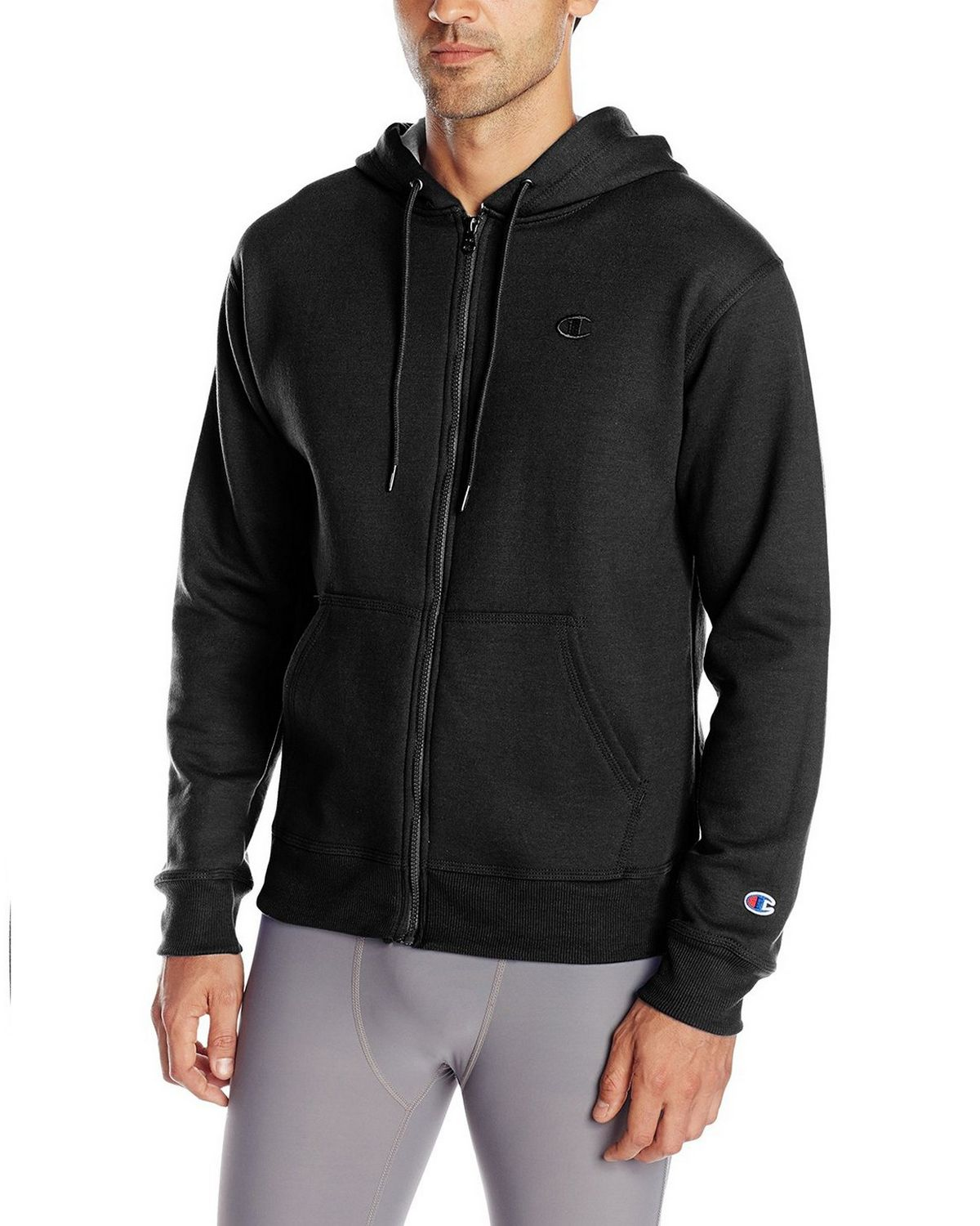 Champion S0891 Mens Fleece Full Zip Jacket - Black - M S0891