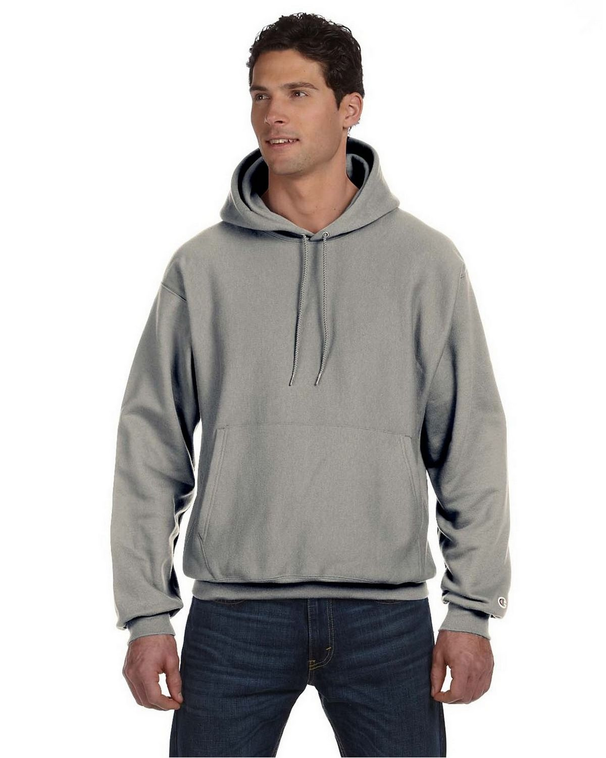 Champion S1051 Reverse Weave Hood - Oxford Grey - XL S1051