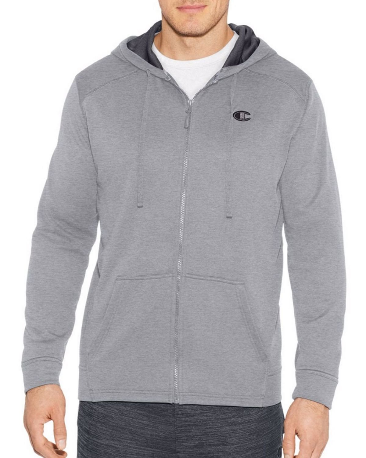 Champion S31228 Mens Full Zip Hoodie - Oxford Grey - XL S31228