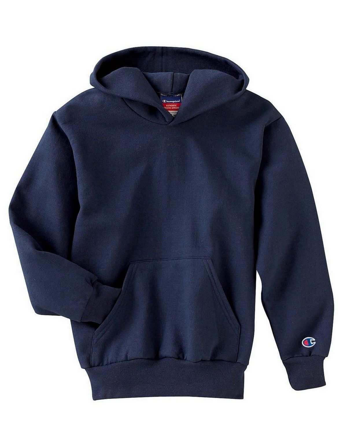 Champion S790 Youth EcoSmart Pullover Hood - Navy - M S790