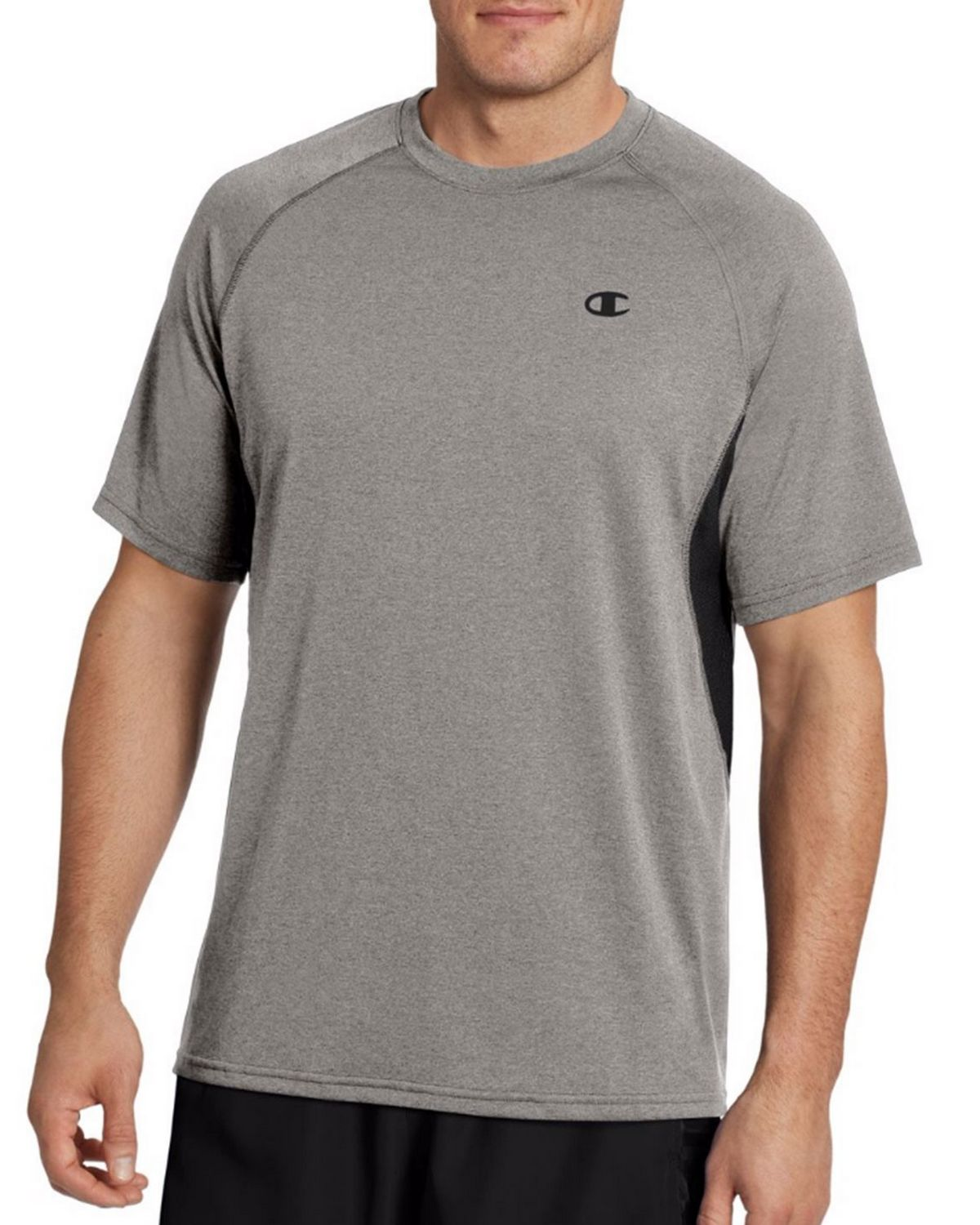 Champion T0049 Vapor Mens Heather Tee - Oxford Grey/Black - XL T0049