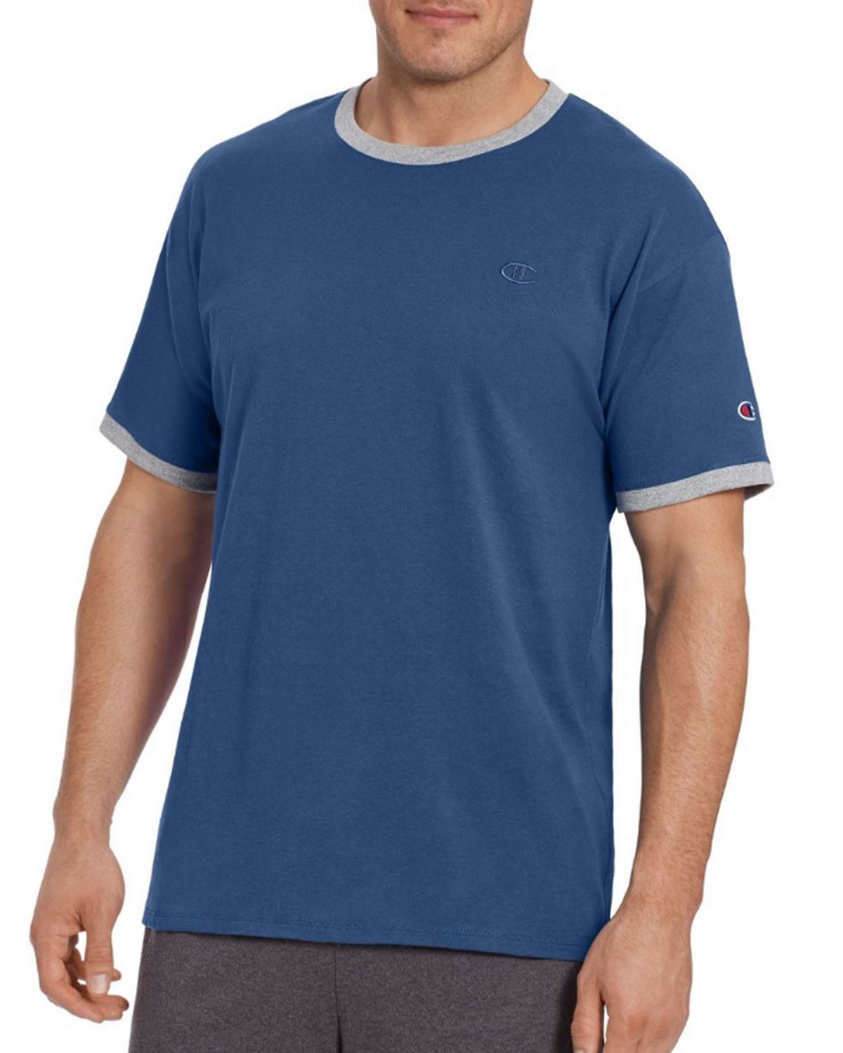 Champion T0220 Mens Ringer Tee - Oxford Gray - S T0220
