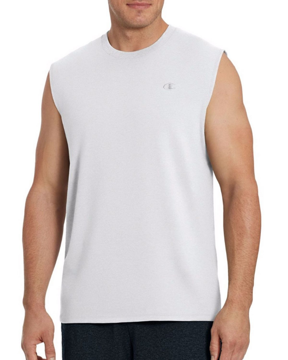 Champion T0222 Mens Muscle Tee - White - M T0222