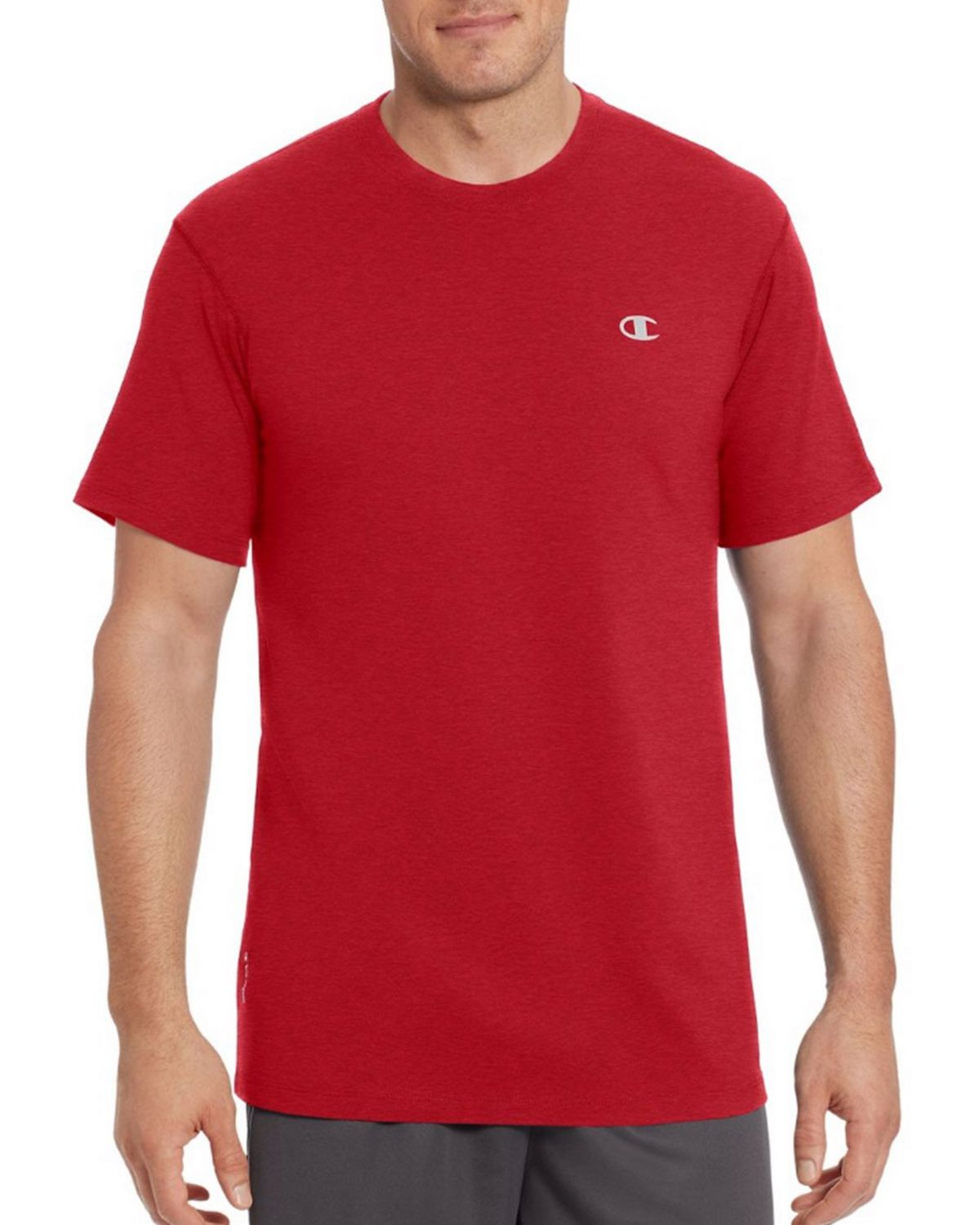 Champion T0351 Vapor Mens Cotton Tee - Granite Heather - S T0351