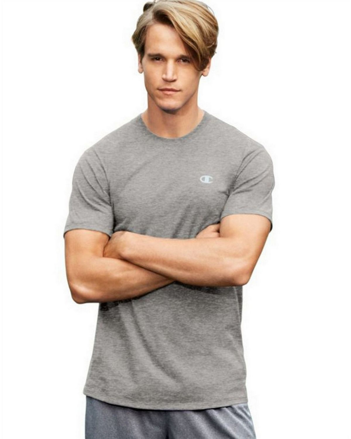 Champion T0351 Vapor Mens Cotton Tee - Oxford Grey - S T0351
