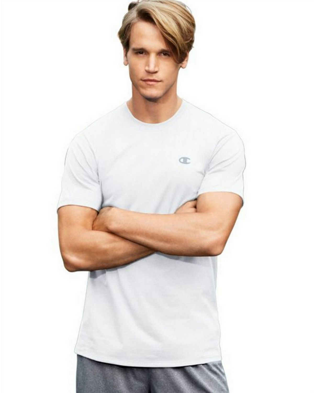Champion T0351 Vapor Mens Cotton Tee - White - L T0351
