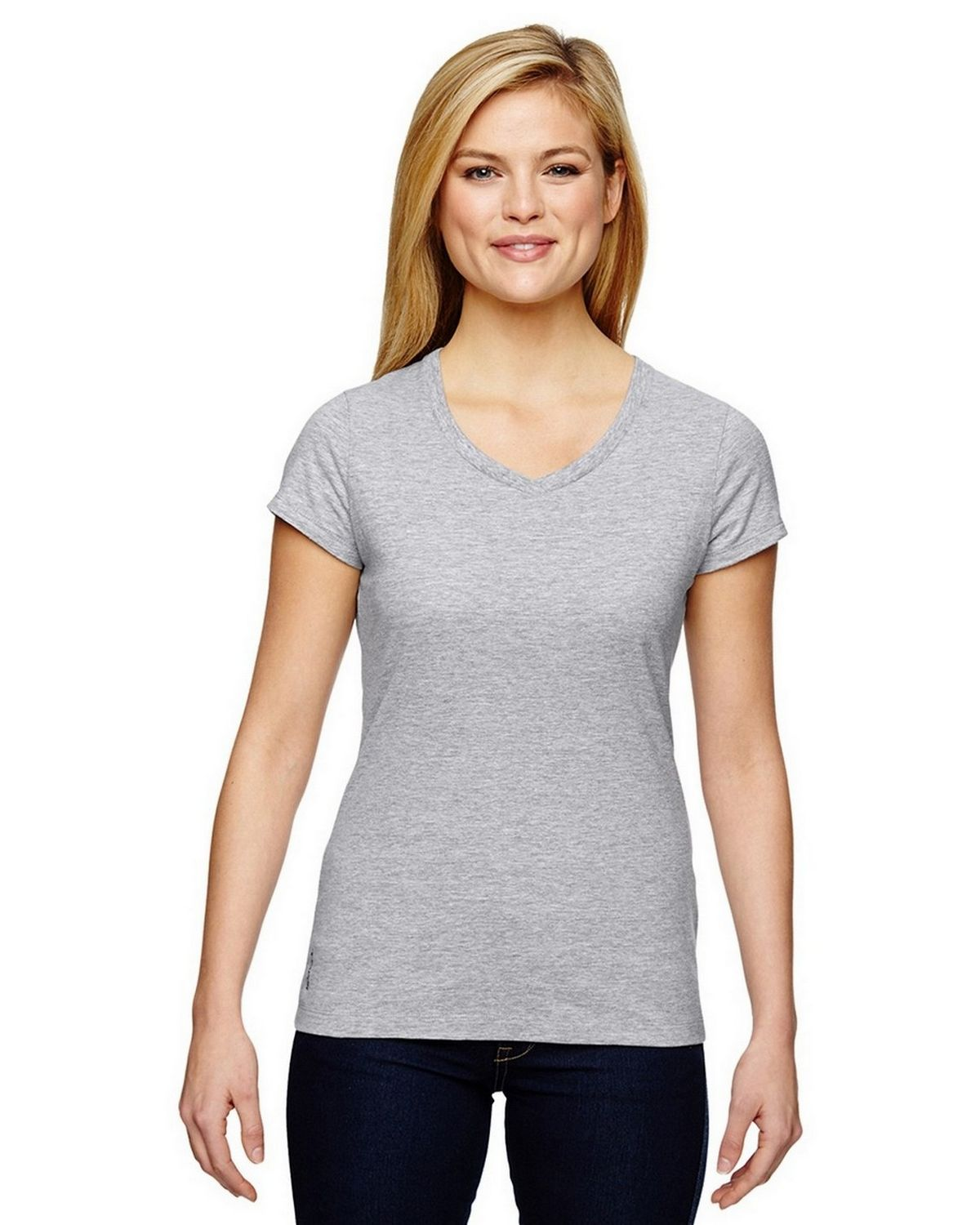 Champion T050 Vapor Ladies T-Shirt - White Heather - XS T050