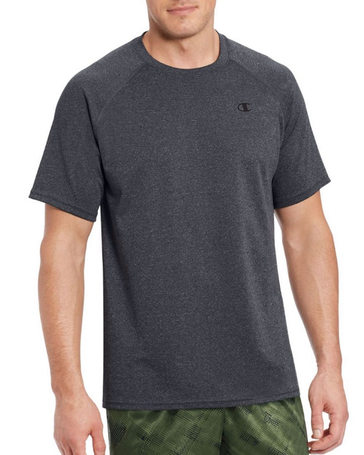 Champion T0881 Vapor Mens Tee - Granite Heather - L T0881