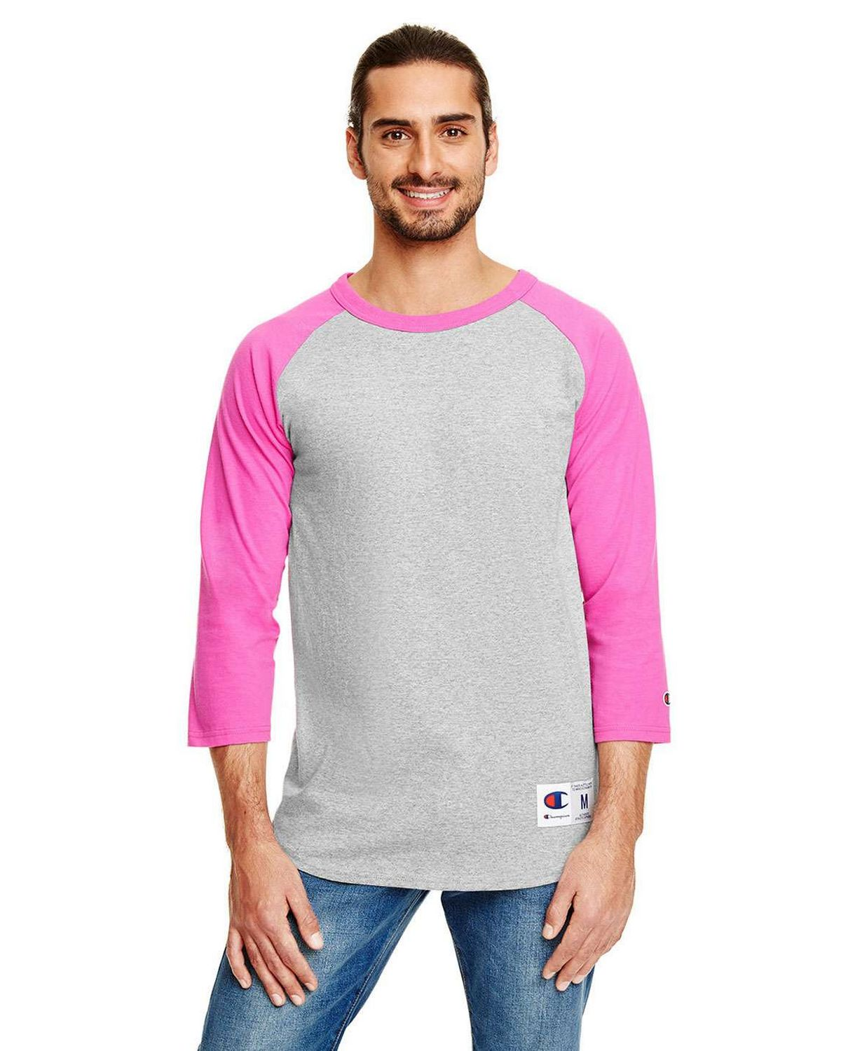 a8f98c06321d2 Buy Champion T1397 100% Cotton Tagless Raglan Baseball T Shirt