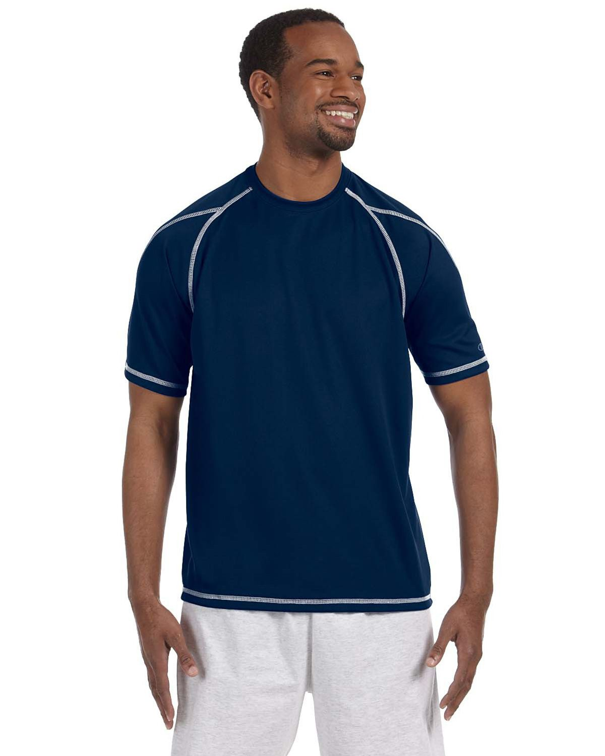Champion T2057 Double Dry T Shirt - Vibe Navy - XL T2057