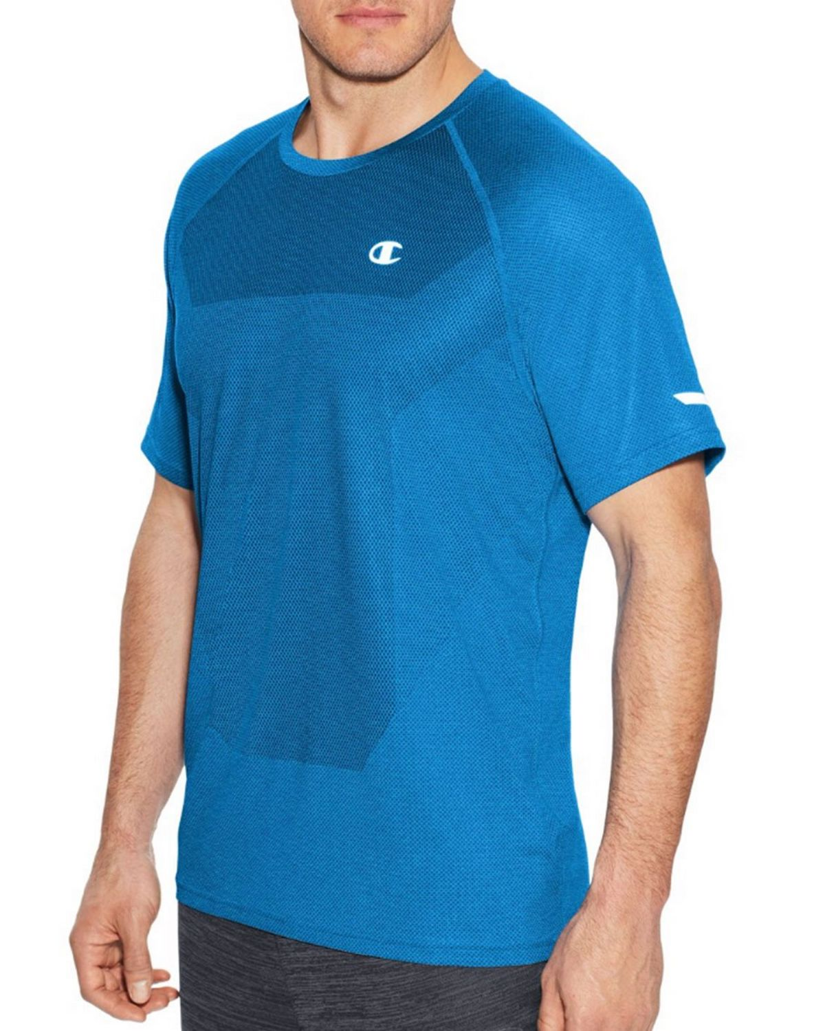 Champion T29815 Mens Training Tee - Stealth Heather - L T29815