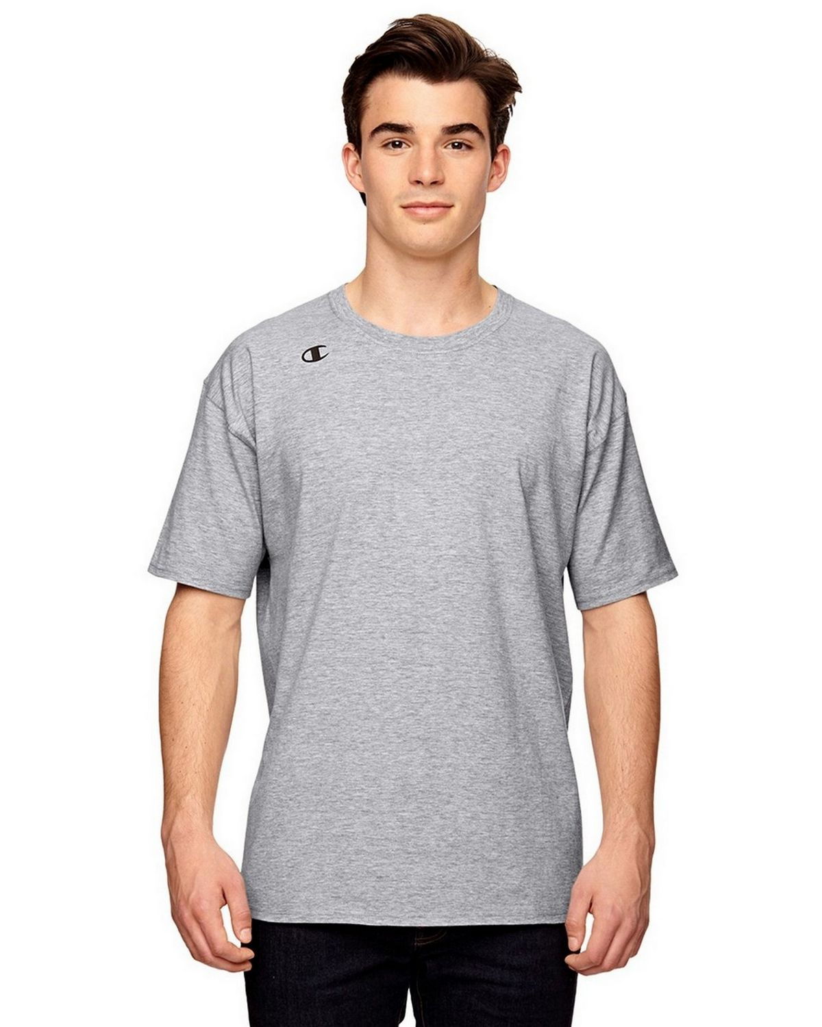 Champion T380 Vapor Cotton T-Shirt - White Heather - XS T380