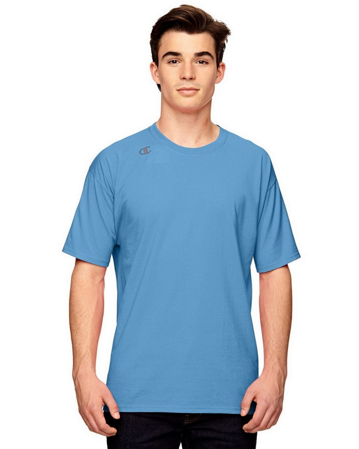 Champion T380 Vapor Cotton T-Shirt - Sport Light Blue - M T380