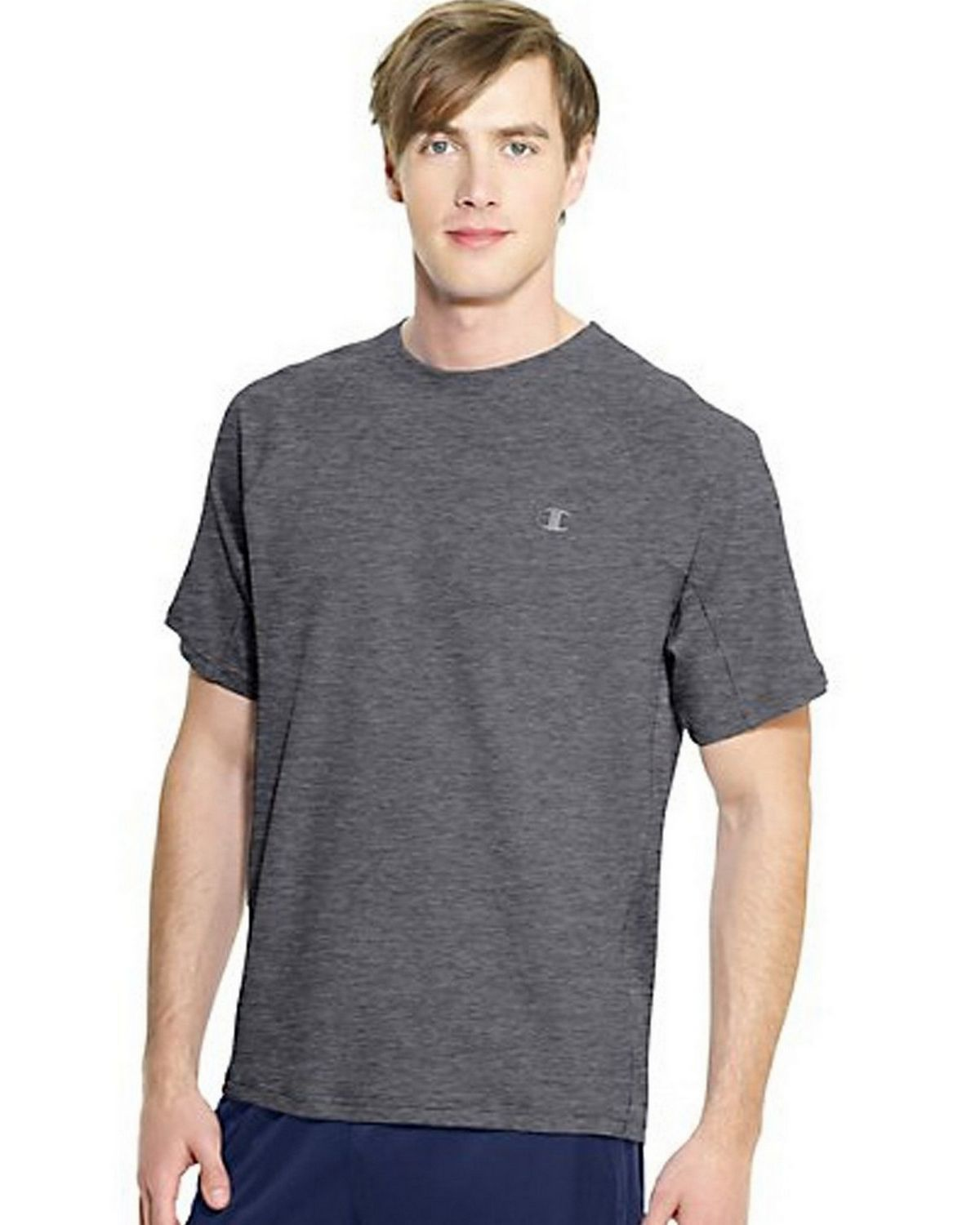 Champion T6608 Vapor PowerTrain Colorblock Tee - Oxford Grey/Granite Heather - XXL T6608