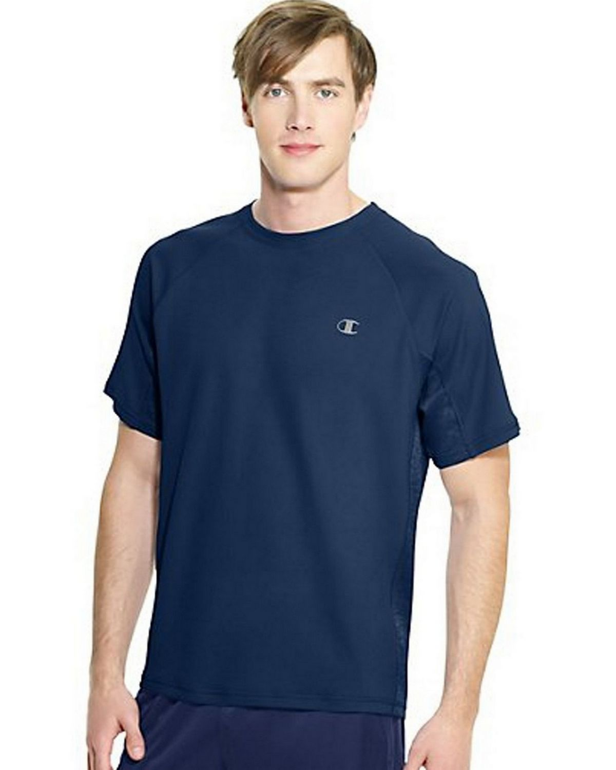 Champion T6608 Vapor PowerTrain Colorblock Tee - Navy - S T6608