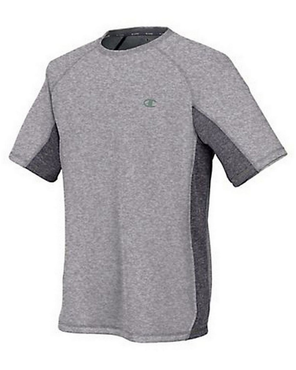Champion T6608 Vapor PowerTrain Colorblock Tee - Oxford Grey/Granite Heather - S T6608