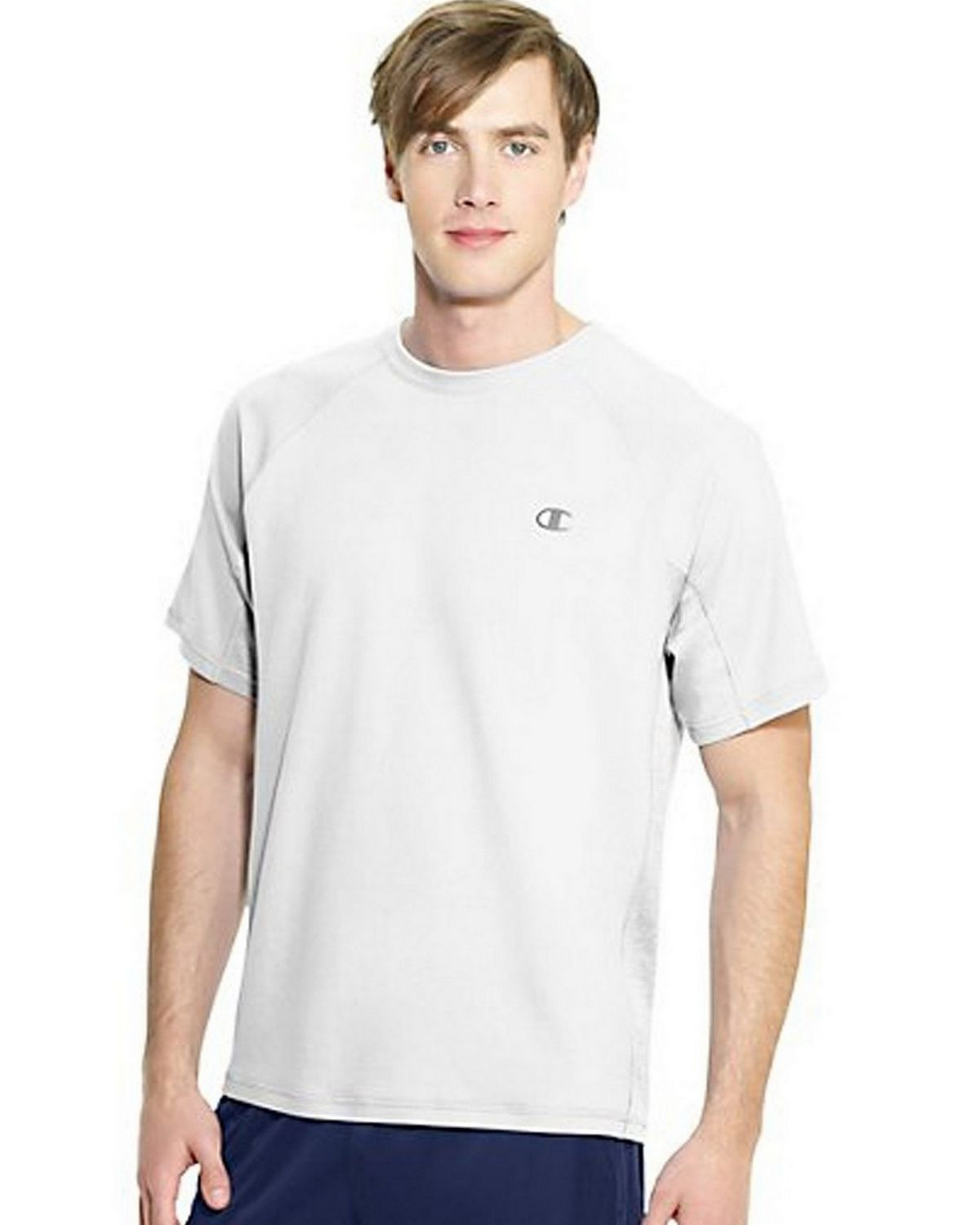 Champion T6608 Vapor PowerTrain Colorblock Tee - White - XL T6608