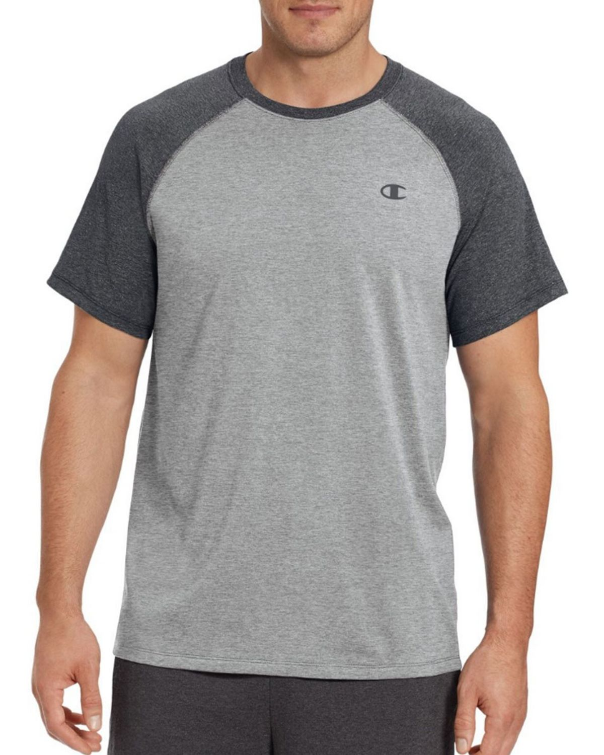Champion T8822 Vapor Mens Tee - Surf The Web Heather/Oxford Grey - M T8822