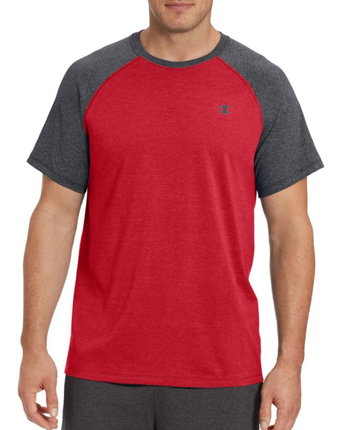 Champion T8822 Vapor Mens Tee - Granite Heather/Oxford Grey - L T8822