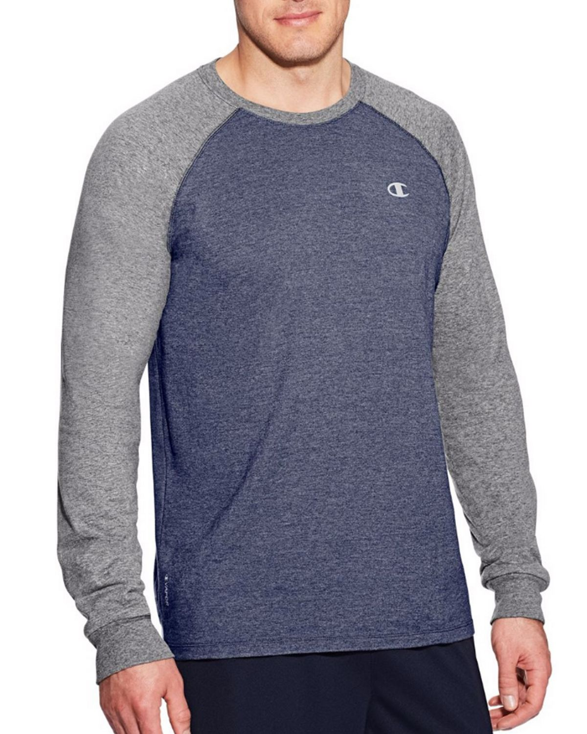 Champion T9937 Vapor Mens Cotton Tee - Champ Navy Heather/Oxford Grey - XL T9937