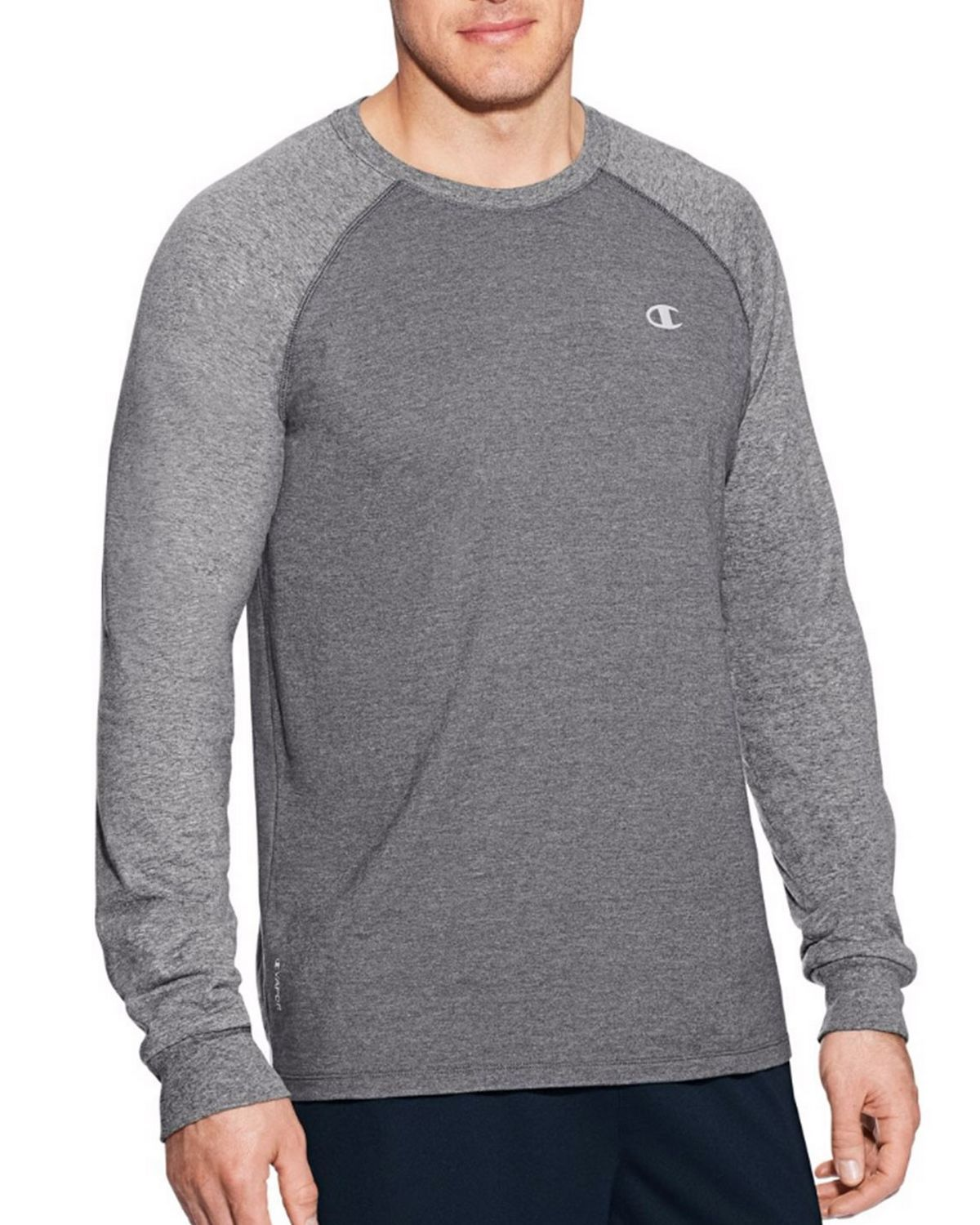 Champion T9937 Vapor Mens Cotton Tee - Granite Heather/Oxford Grey - M T9937