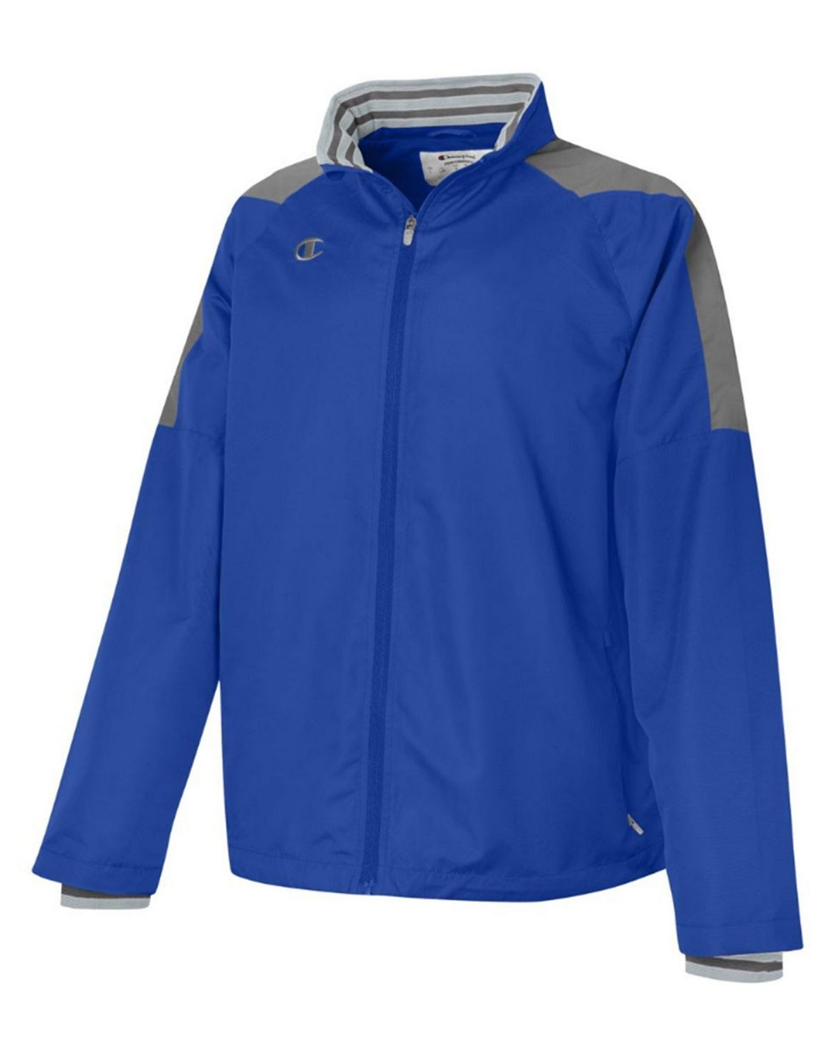 Champion V070 Mens Full Zip Jacket - Athletic Royal/Dark Platinum Gray - S V070