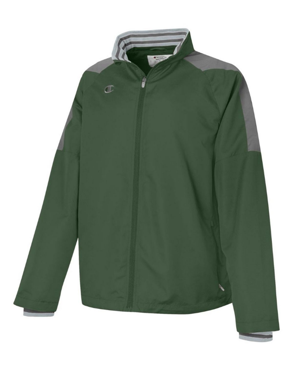 Champion V070 Mens Full Zip Jacket - Team Dark Green/Dark Platinum Gray - XL V070