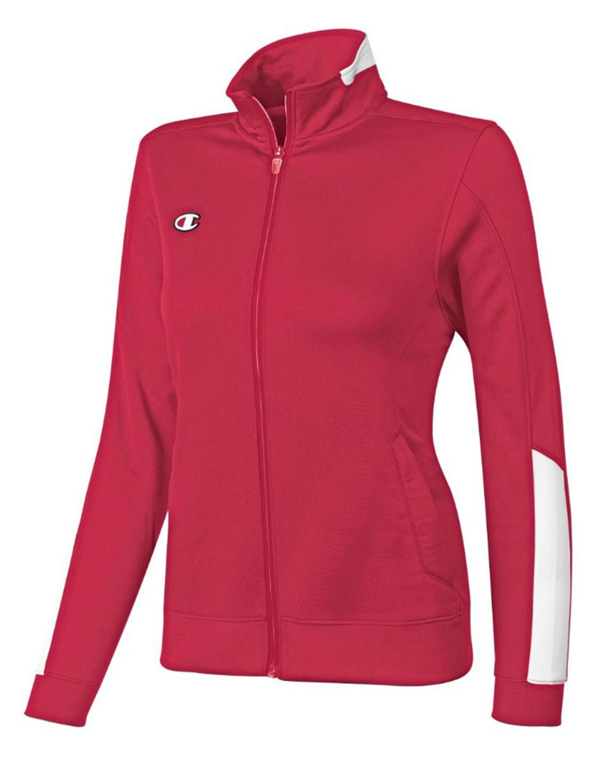 Champion V362 Womens Knit Jacket - Scarlet/White - XS V362