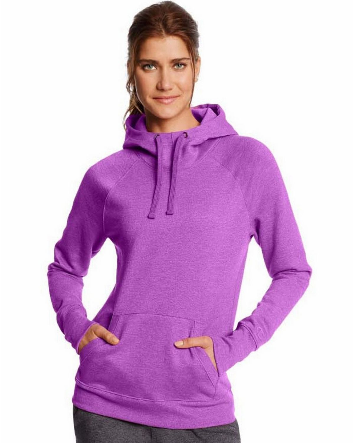 Champion W0934 Fleece Pullover Hoodie - Amethyst Glaze Heather - M W0934